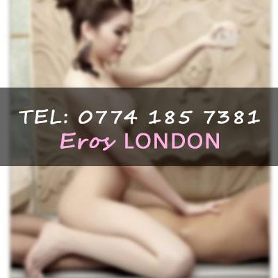 massage girl giving nuru treatment in mayfair London