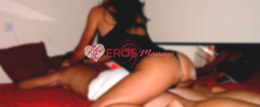 a man is having an intimate erotic massage with Eros masseuse